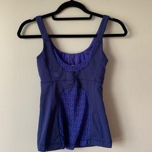 2/$50 Lululemon bluish purple tank top w mesh back
